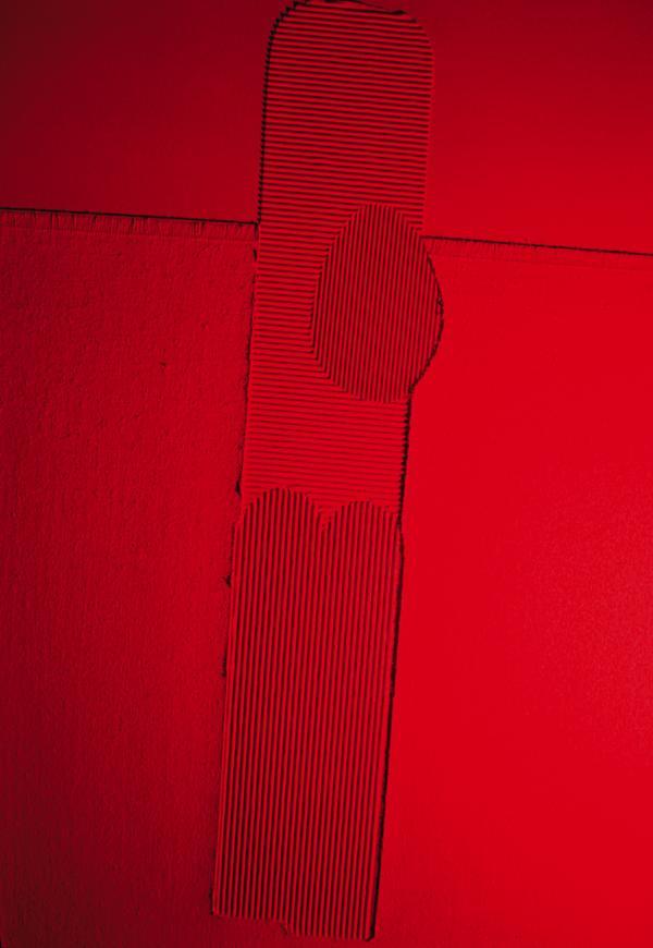 Crocifisso rosso,208,70x100